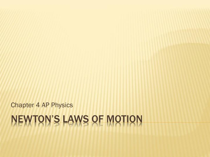 chapter 4 ap physics n.
