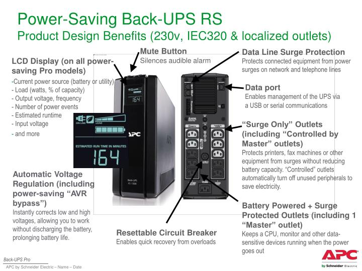 power saving back ups rs product design benefits 230v iec320 localized outlets n.