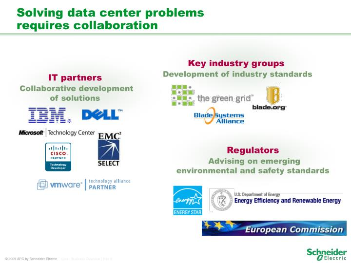 Solving data center problems