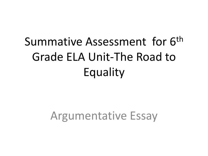 argumentative essays for 6th graders