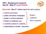 wp4 background research sep 06 may 07 lead cliodna