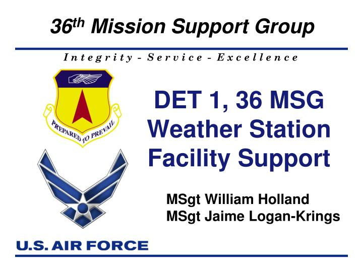 det 1 36 msg weather station facility support n.