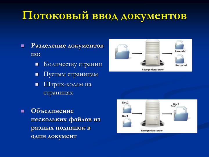 Потоковый ввод документов