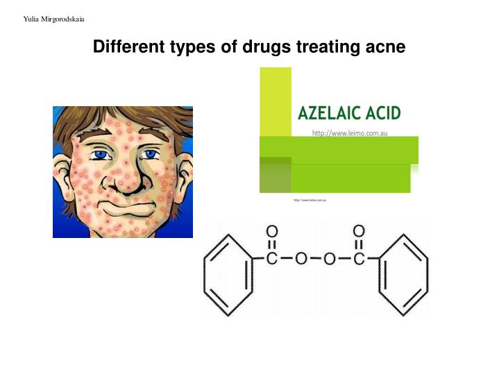 different types of drugs treating acne n.