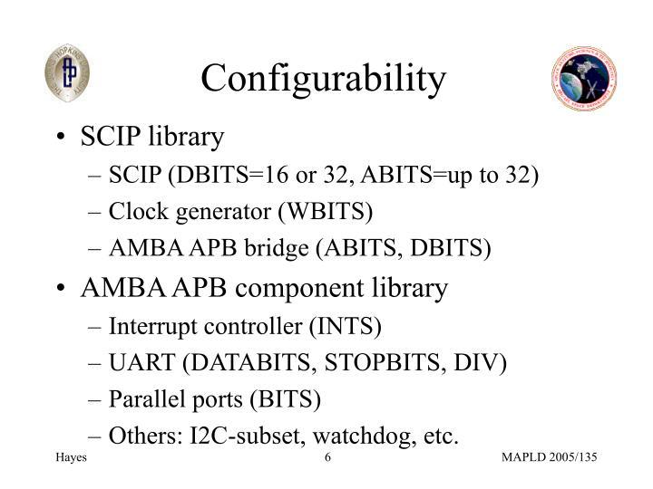 Configurability