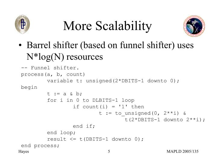 More Scalability
