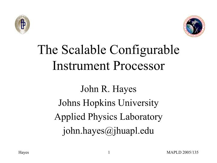 the scalable configurable instrument processor n.