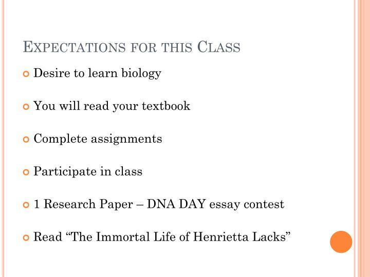 Expectations for this Class