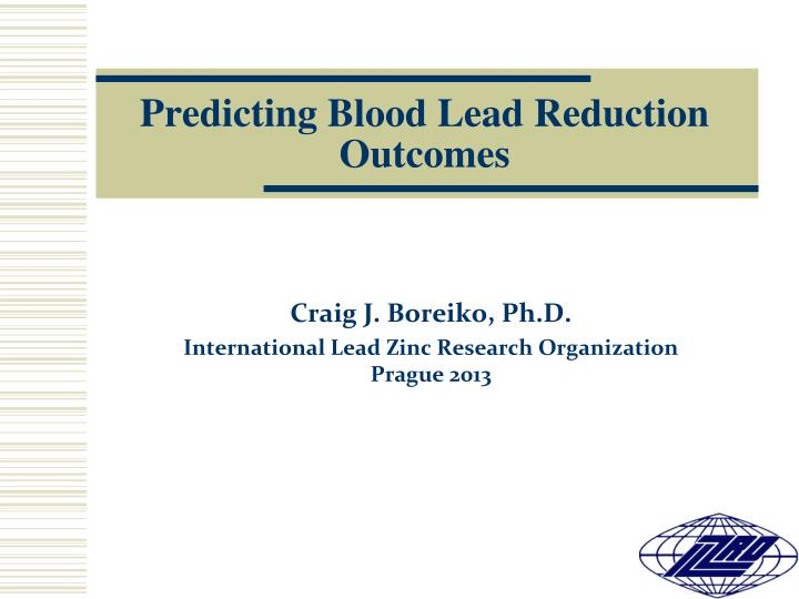 predicting blood lead reduction outcomes n.