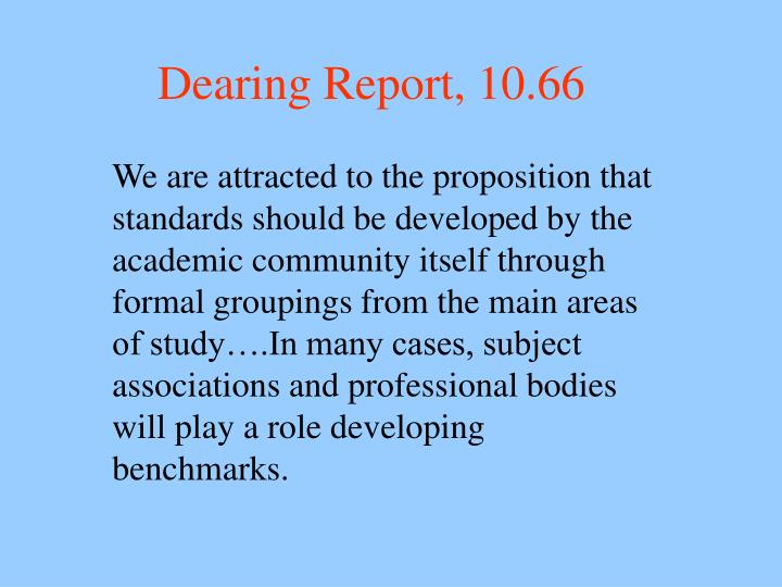 Dearing report 10 66