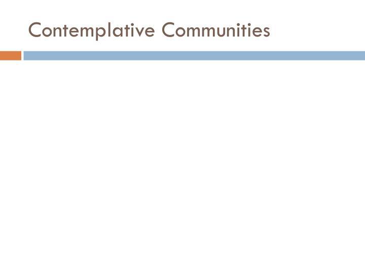 Contemplative Communities