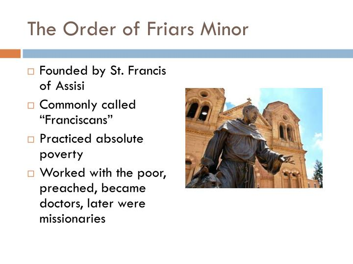 The Order of Friars Minor