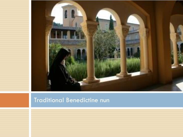 Traditional Benedictine nun