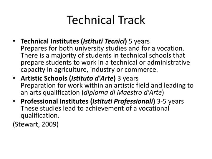 Technical Track