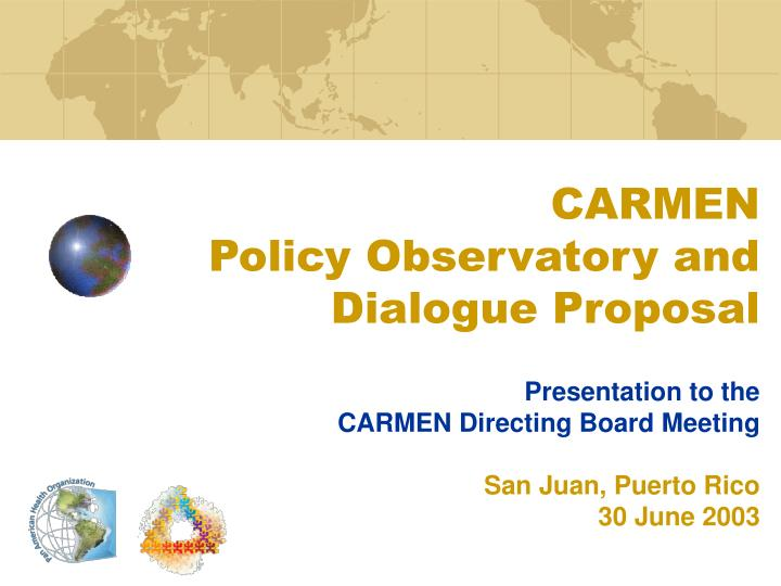 carmen policy observatory and dialogue proposal n.