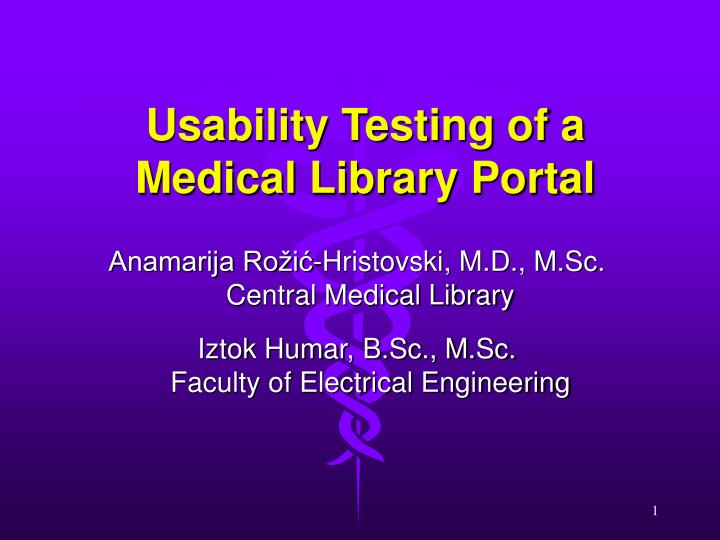 usability testing of a medical library portal n.