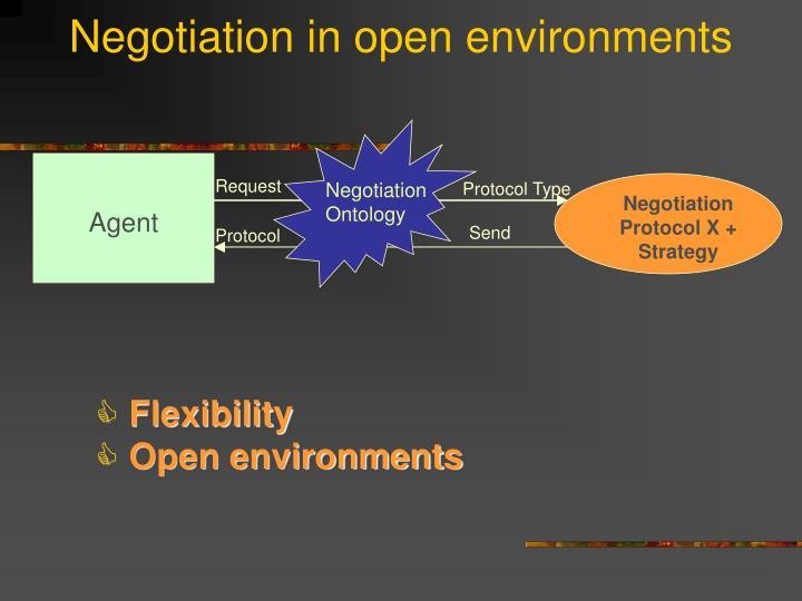 Negotiation in open environments
