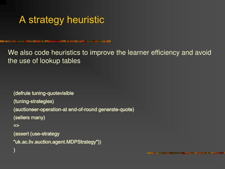 A strategy heuristic