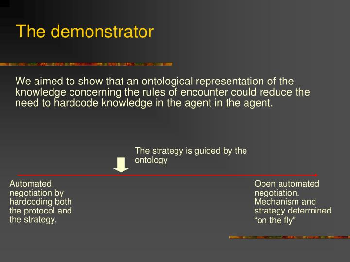 The demonstrator
