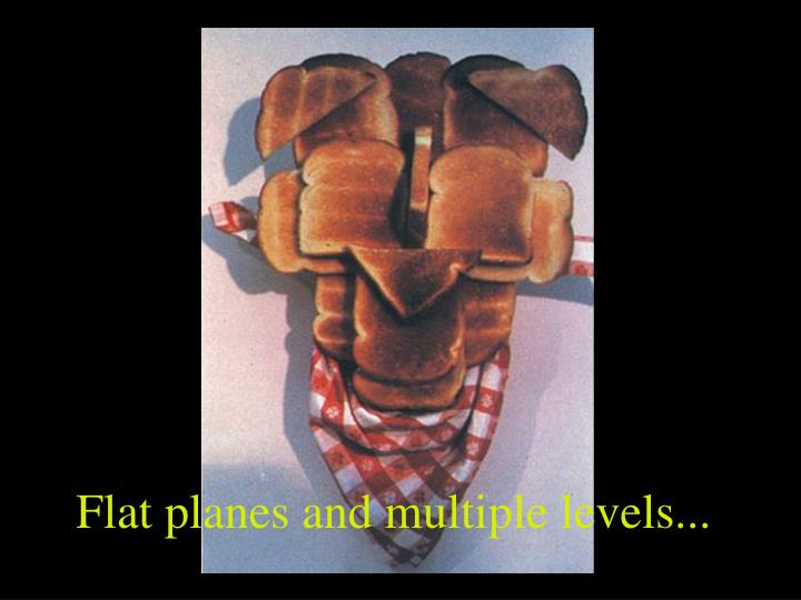 Flat planes and multiple levels...