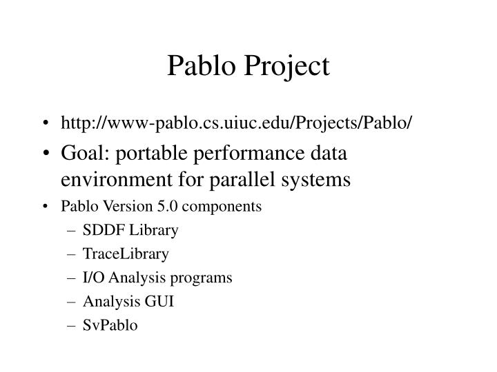 pablo project n.