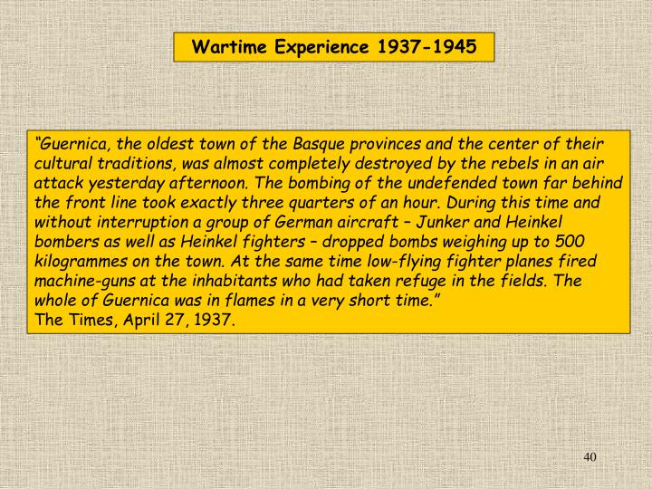 Wartime Experience
