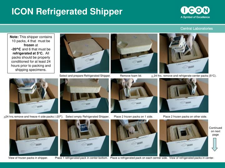 icon refrigerated shipper n.