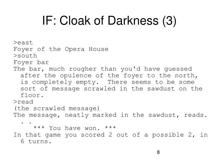 IF: Cloak of Darkness (3)