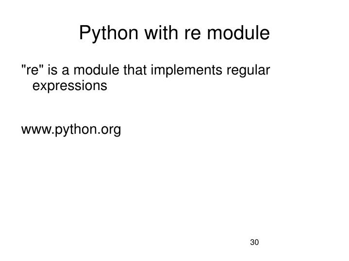 Python with re module