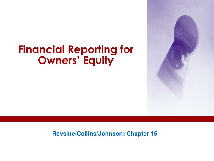 financial reporting for owners equity n.