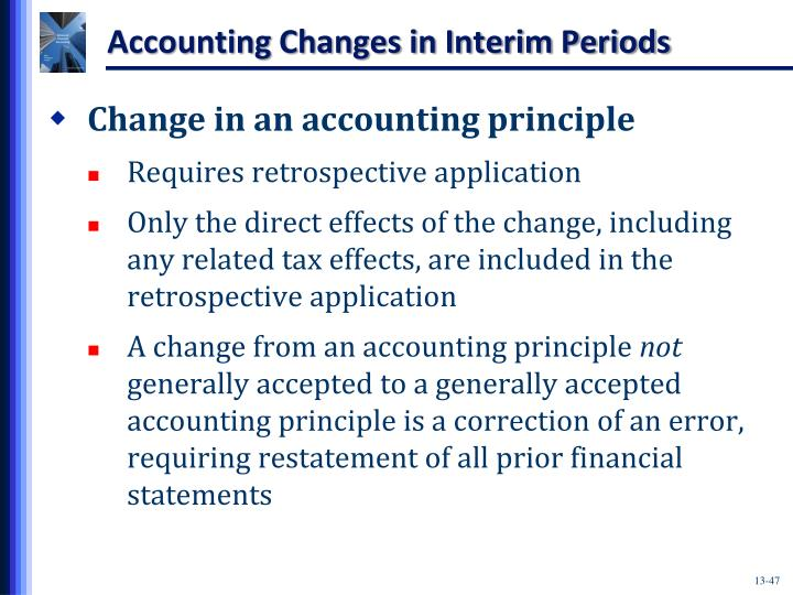 Accounting Changes in Interim Periods