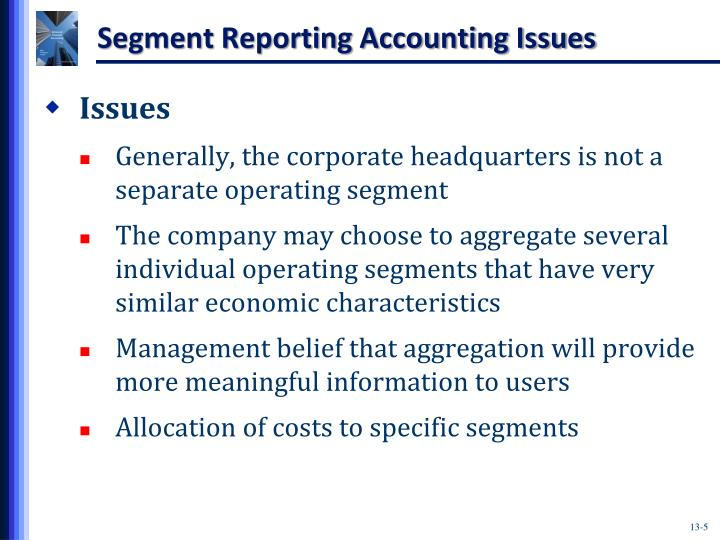 Segment Reporting Accounting Issues