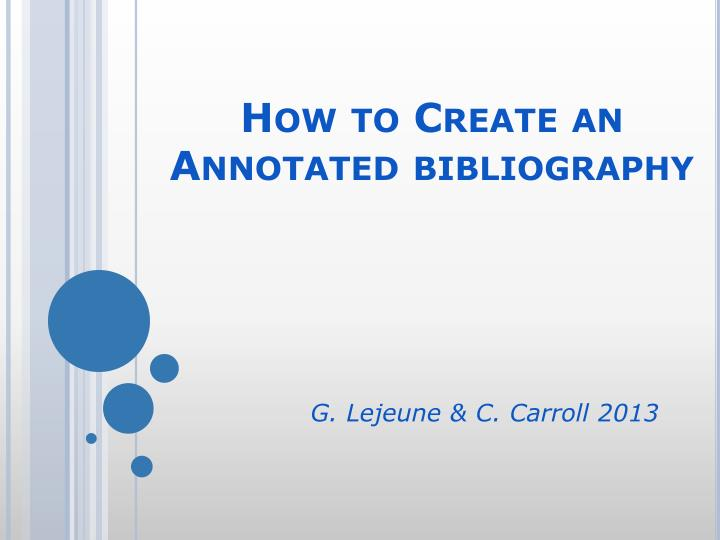 how to create an annotated bibliography how to create an annotated bibliography n.