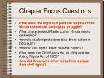 chapter focus questions