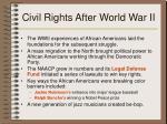 civil rights after world war ii