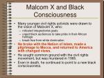 malcom x and black consciousness