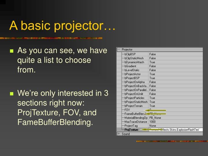 A basic projector…