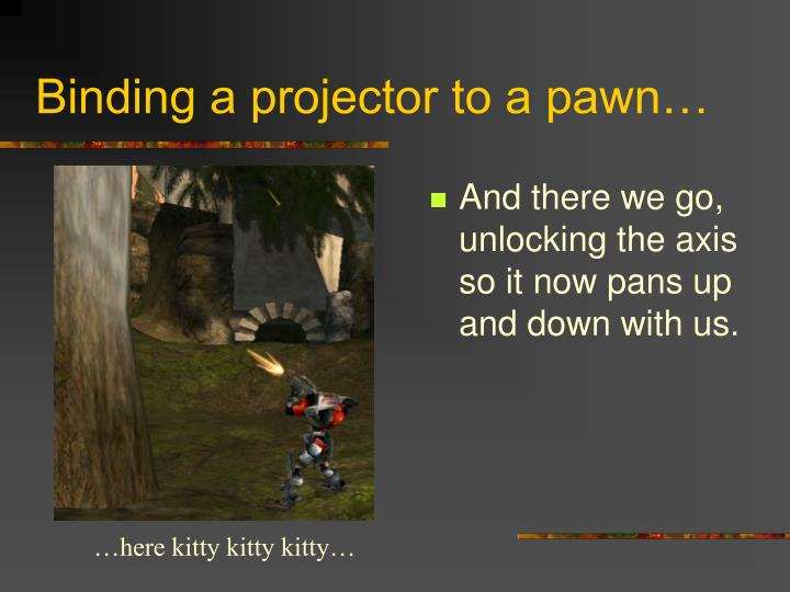 Binding a projector to a pawn…