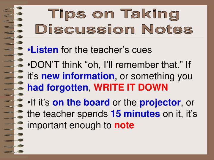Tips on Taking