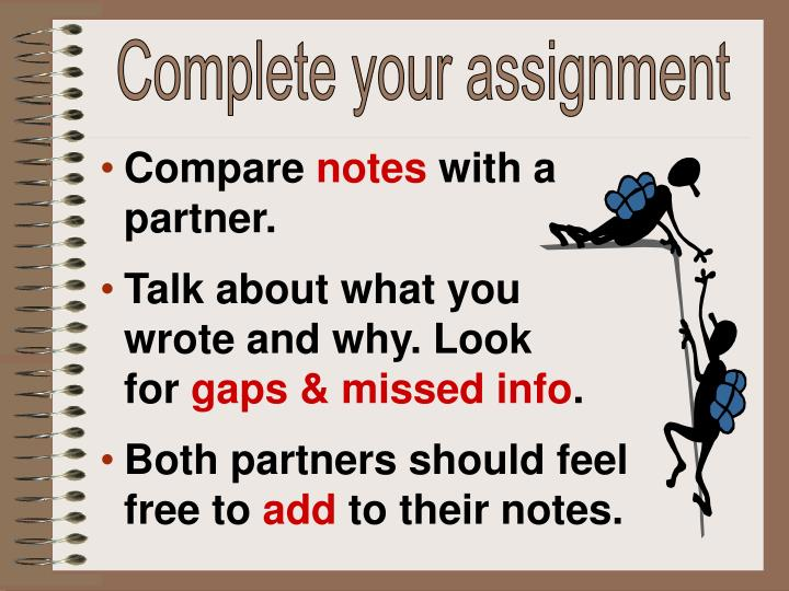 Complete your assignment