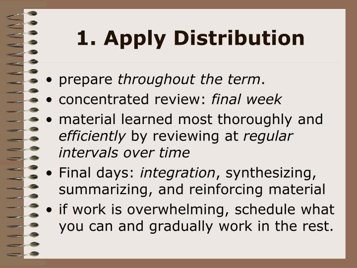 1. Apply Distribution