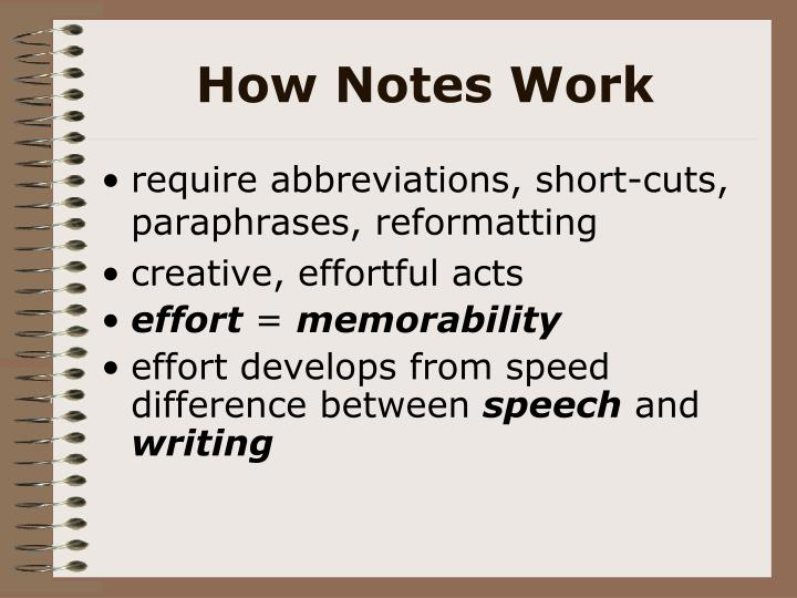 How Notes Work