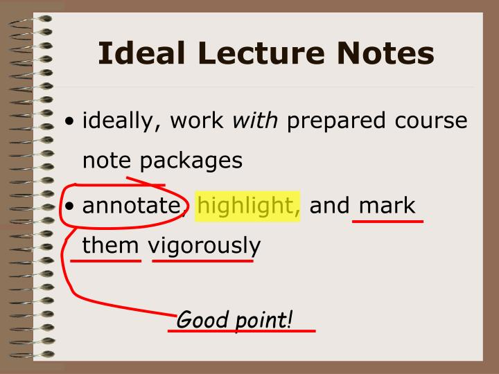 Ideal Lecture Notes