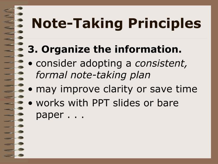 Note-Taking Principles