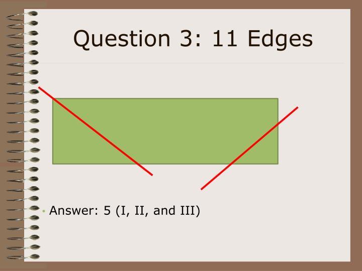 Question 3: 11 Edges