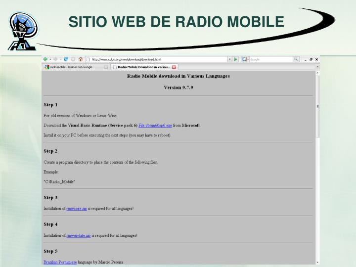 SITIO WEB DE RADIO MOBILE