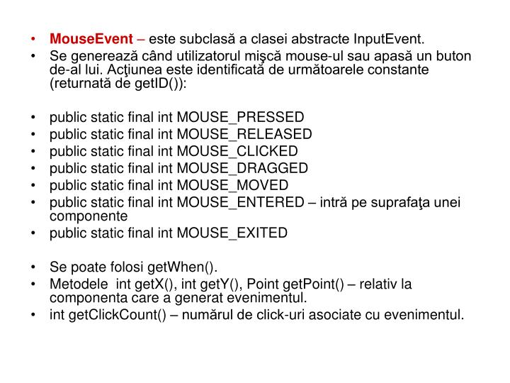 MouseEvent