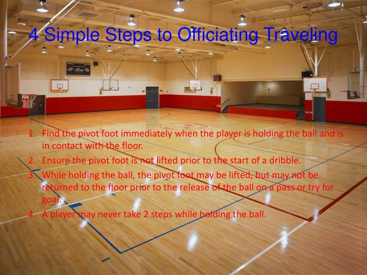 4 Simple Steps to Officiating Traveling