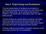 step 3 project design and development