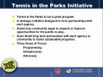 tennis in the parks initiative